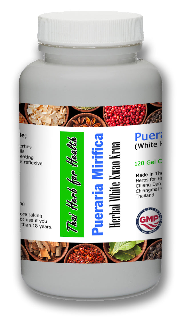 Pueraria Mirifica Breast Enhancement 120 Pills - Menopause, Antioxidant, Anticancer, Heart, Brain