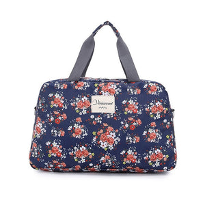Women Lady Large Capacity Floral Duffel Totes Sport Bag Multi function Portable Travel Luggage Gym Fitness Bag