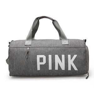 PINK BLACK GREY Gym Bag for Women Shoulder Sports Bag for Training Fitness Yoga Outdoor Separate Space for Shoes