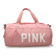 Load image into Gallery viewer, PINK BLACK GREY Gym Bag for Women Shoulder Sports Bag for Training Fitness Yoga Outdoor Separate Space for Shoes