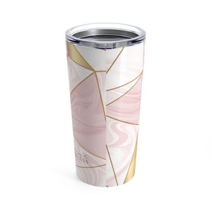 Pink Marble and Gold Tumbler 20oz - Forever Fearless Mag