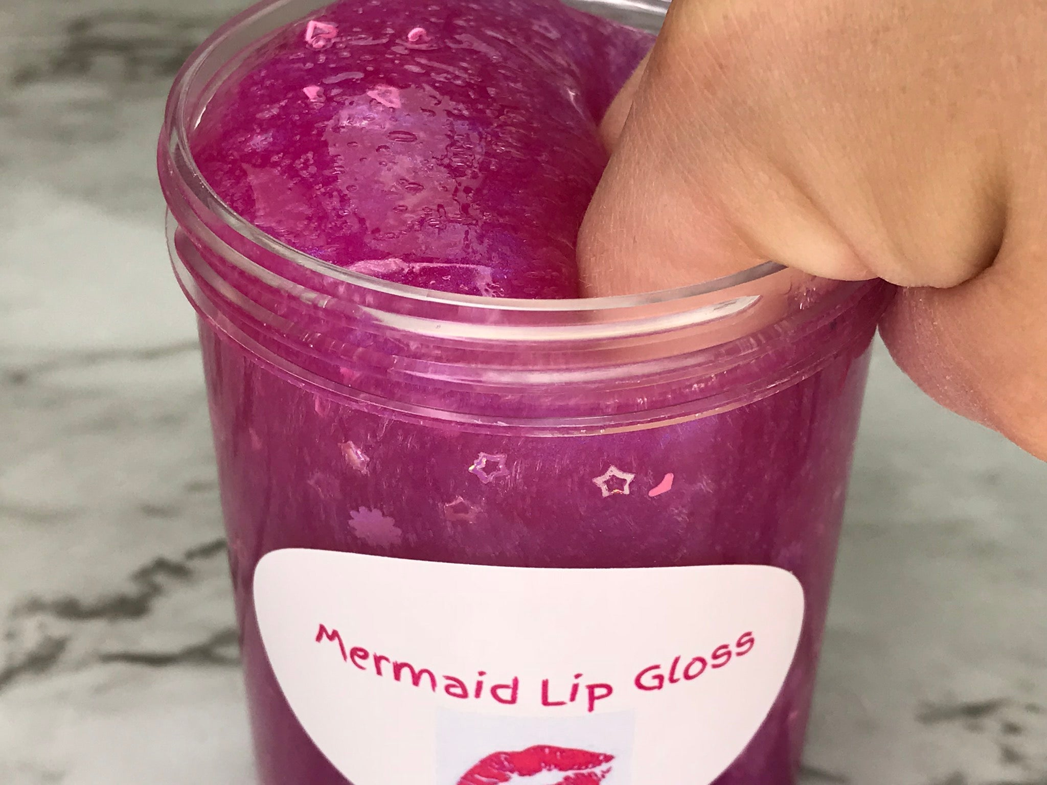 Mermaid Lip Gloss Slime