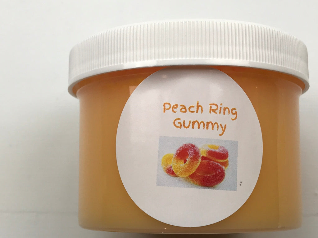Peach Ring Gummy Clear Slime