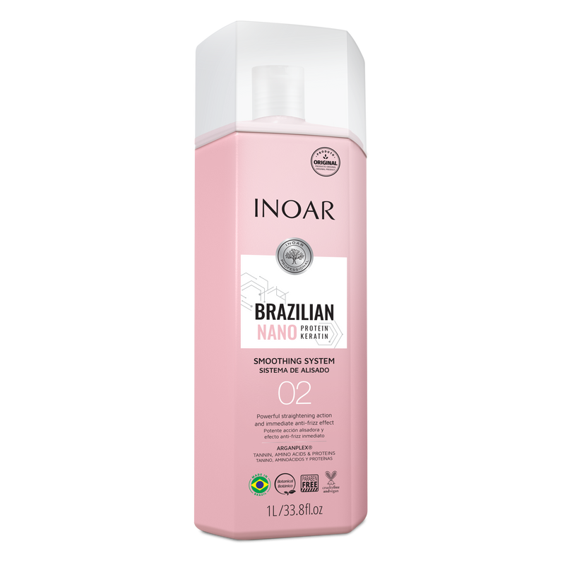 INOAR BRAZILIAN NANO PROTEINS KERATIN SMOOTHING SYSTEN STEP 2