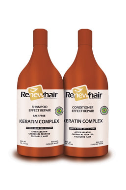 Renew hair Professional Keratin Complex kit Shampoo and condition 300ml