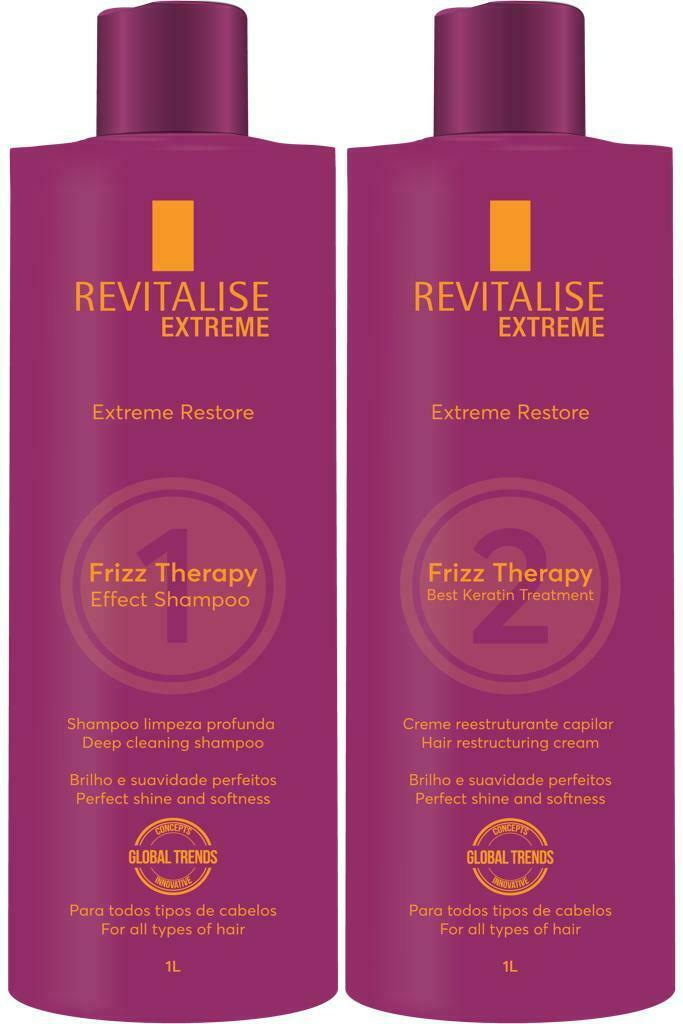 Keratin REVITALISE FRIZZ THERAPY NEW 1000mL FORMALDEHYDE FREE. 150ml and 1000ml