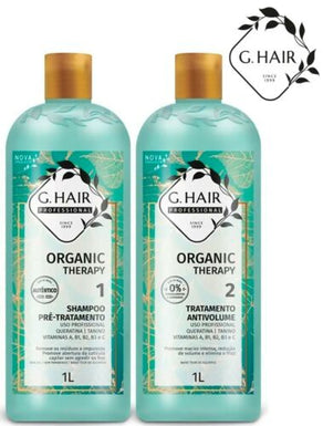GHAIR BRAZILIAN KERATIN BLOW DRY HAIR STRAIGHTENING ORGANIC THERAPY 1000ML KIT