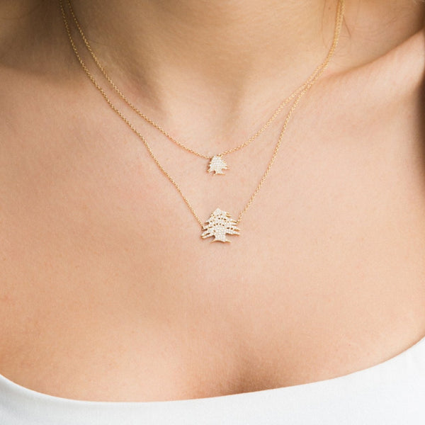 Ceder Tree Diamond Necklace Large
