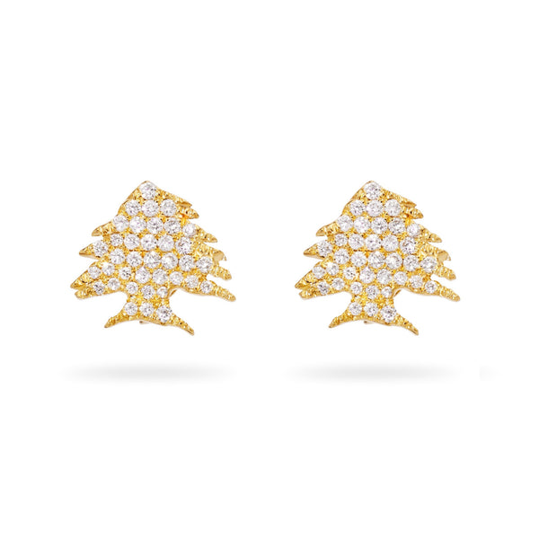 Ceder Tree Diamond Earrings