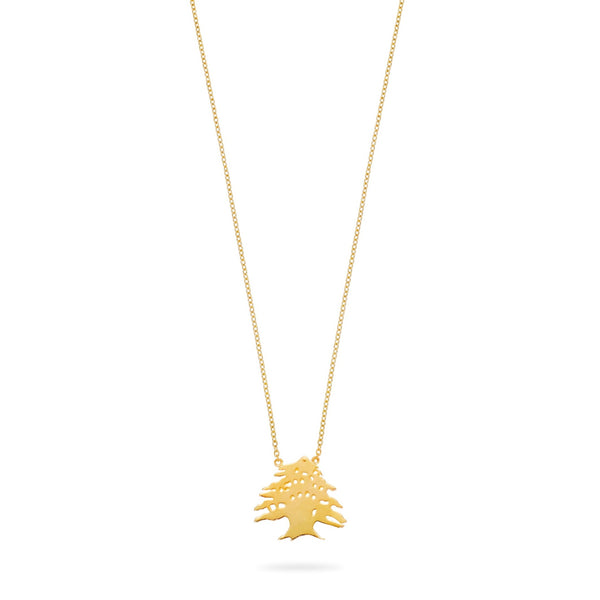 Ceder Tree Gold Necklace Large