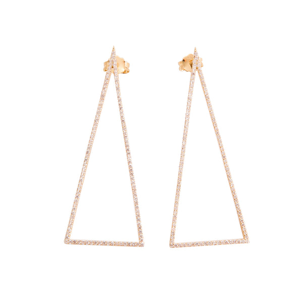 Drop Triangle Earrings