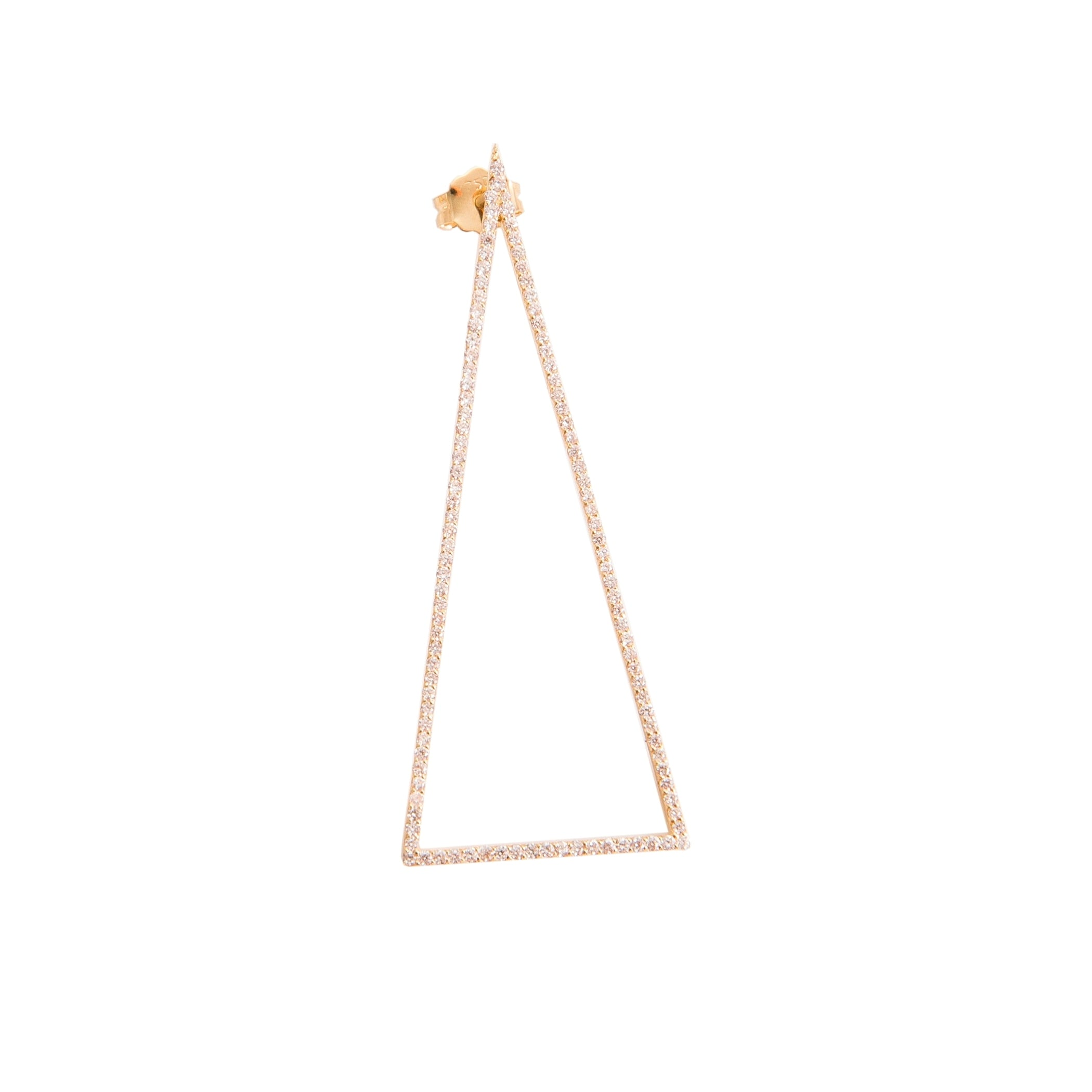 Single Drop Triangle Earring