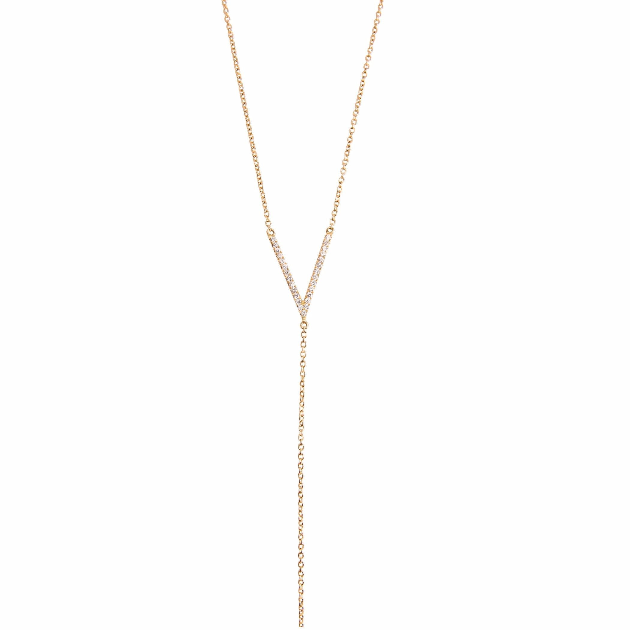 V- Bar Drip Necklace