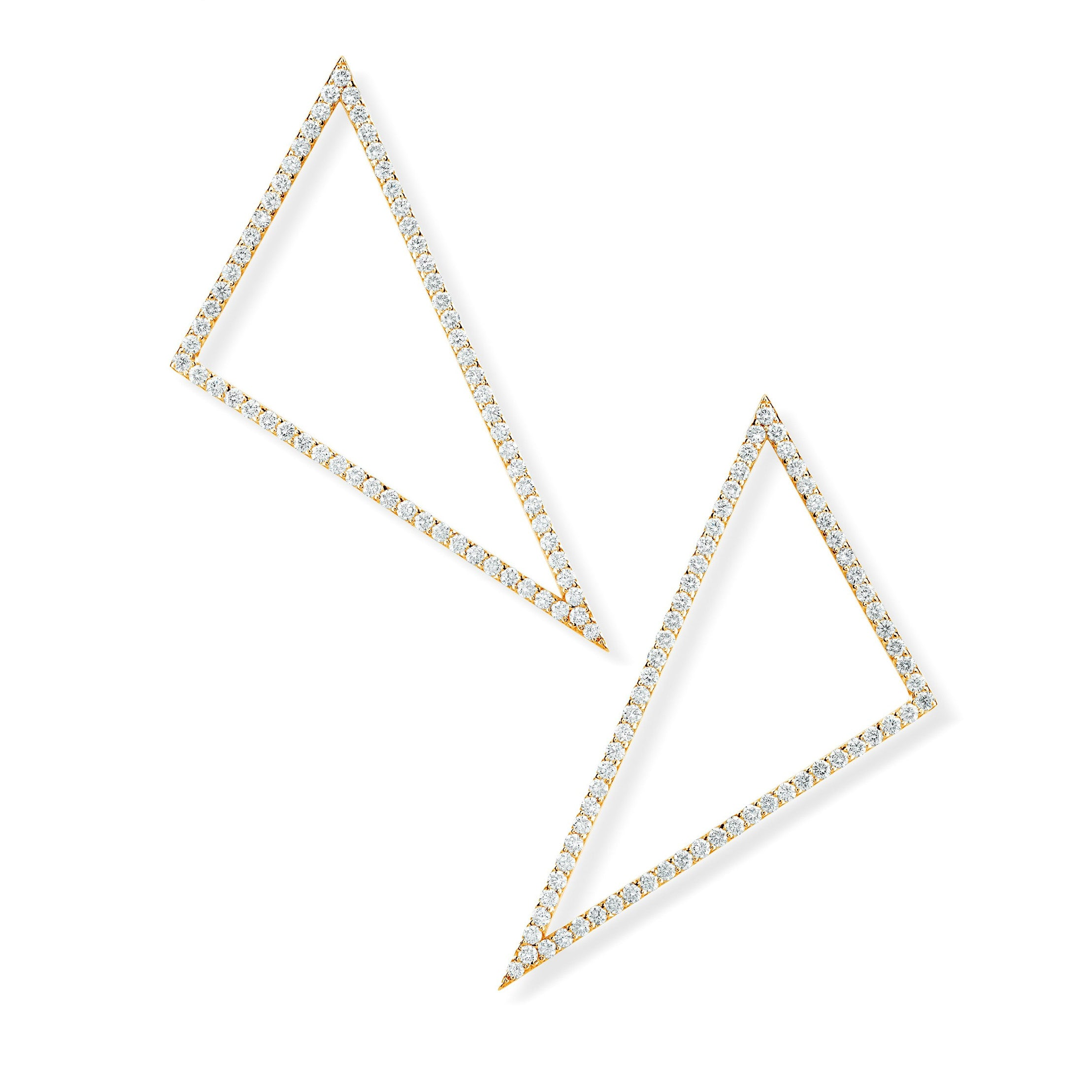 Hinge Triangle Earrings