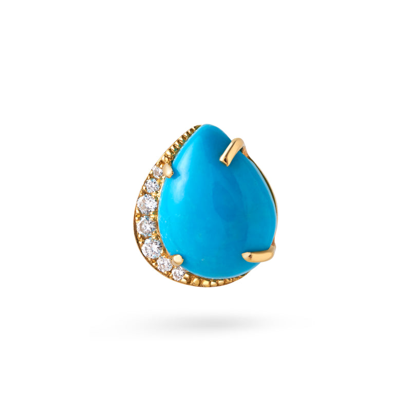 Turquoise Pear Earring Studs