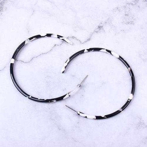 Acrylic C-Type Semi-Circular Retro Temperament Exaggerated Earrings