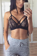 Load image into Gallery viewer, Sexy Lace Crossover Front Lace Bralette Top