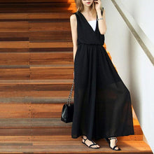 Load image into Gallery viewer, New Summer Sleeveless V-Neck Chiffon Jumpsuit