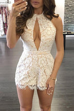 Load image into Gallery viewer, Sexy Casual Halter Neck Lace Romper