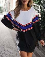 Load image into Gallery viewer, Striped Pullover Loose Long Sleeve Casual Dresses