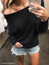 Load image into Gallery viewer, Fashion Off-Shoulder Long Sleeve Pull Over T-Shirt