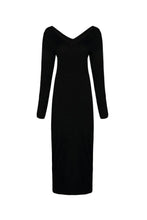 Load image into Gallery viewer, Deep V Neck  Plain  Long Sleeve Maxi Dresses