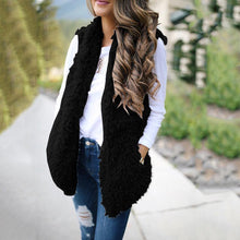 Load image into Gallery viewer, Solid Color Fashion Cashmere Long Vest Jacket