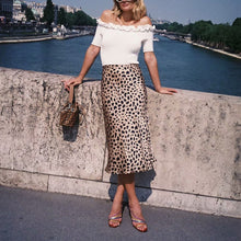 Load image into Gallery viewer, Elegant Chic Slim Leopard Print High Waist Long Skirt