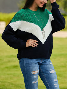 Long-Sleeved Stripes In Solid Colors Sweaters