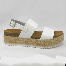 Load image into Gallery viewer, Large Size Platform Grass Sandals
