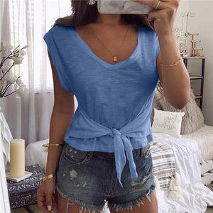Sexy Solid Color Short Sleeve T Shirt