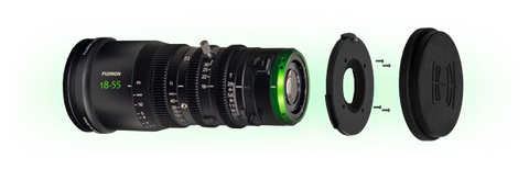 Fujinon MK 18-55mm and 50-135mm zoom lens Sony FZ mount conversion Kit from Duclos Lenses