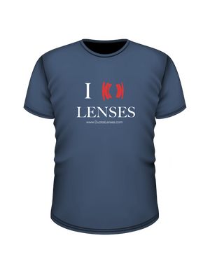 "Blue ""I Heart Lenses"" T-Shirt"