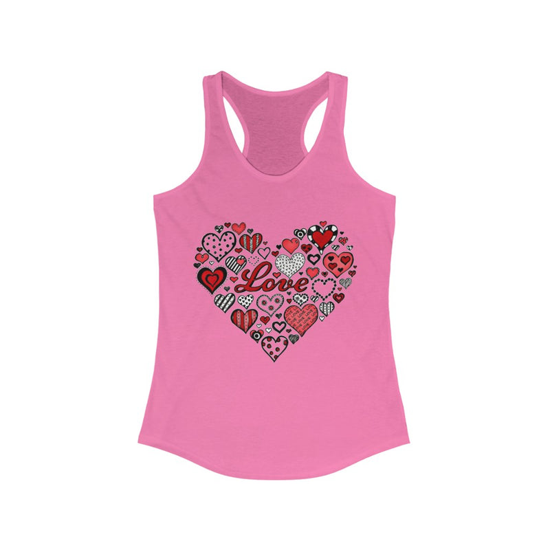 Women's Love Racerback Tank - RoyaleCart
