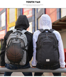 Sport Basketball Football Soccer Ball Laptop Mesh Gym Backpacks Bags - RoyaleCart