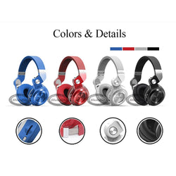 Bludio Fold-able Bluetooth Headphones FM Radio SD - RoyaleCart