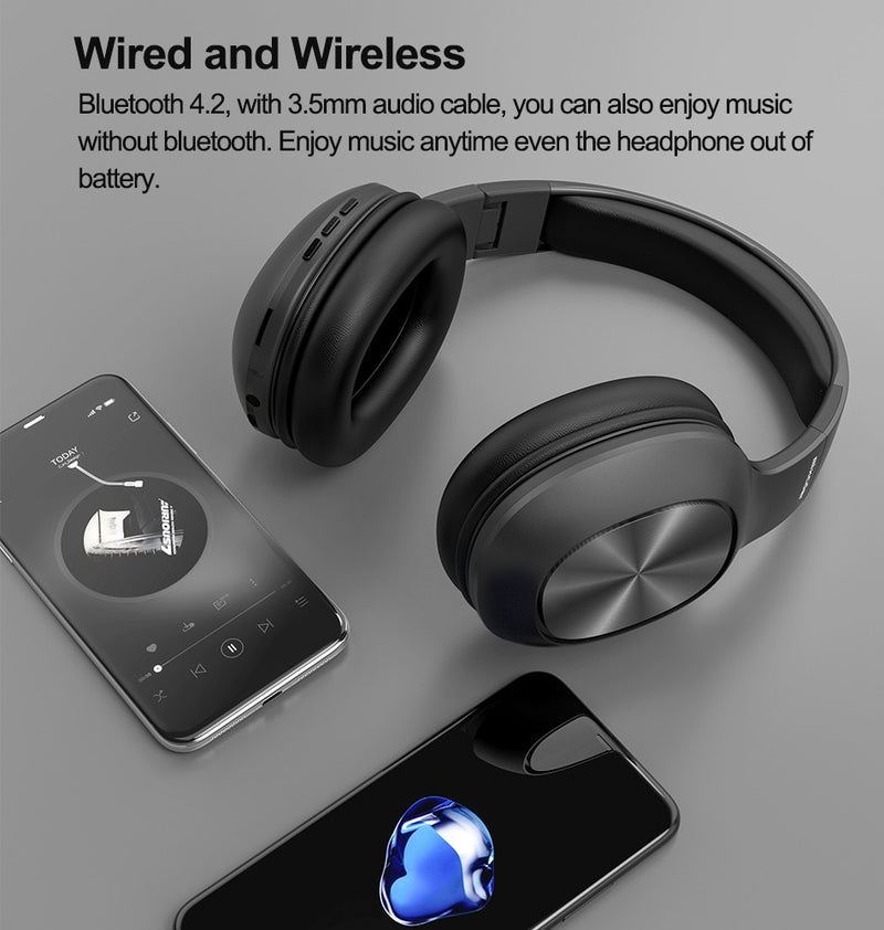 Bluetooth Headphones with Microphone TF Card Folding - RoyaleCart
