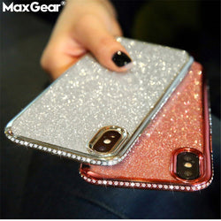 Rhinestone Case For Samsung Galaxy Glitter Cover S9 to A6 - RoyaleCart