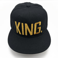 KING or QUEEN Embroidered Baseball Cap Hats Gold Letters - RoyaleCart