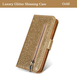Leather Flip Zipper Case For Samsung Galaxy Wallet