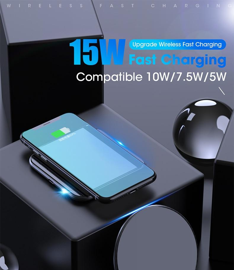 Fast Wireless Charger For iPhone & Samsung Smartphones - RoyaleCart