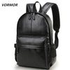 Waterproof Leather Laptop Travel Casual Fashion Backpack Bag - RoyaleCart
