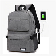 Laptop Backpack Laptop Bag for Notebook w/USB Charge Port Canvas - RoyaleCart