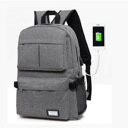 Smart USB Laptop Backpack Bag Canvas - RoyaleCart