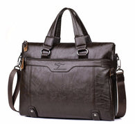 High Quality Leather Briefcase Shoulder Bag for 14