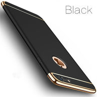 Luxury Gold Hard Case for iPhone w/Back Cover Removable 3 in 1 Case + Bag