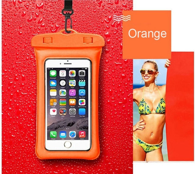Floating Bag Waterproof  SmartPhone Pouch Cell Phone Case For Beach Use - RoyaleCart