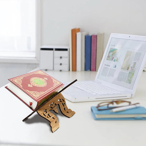 Holy Quran Stand Wooden - Rihal during office work