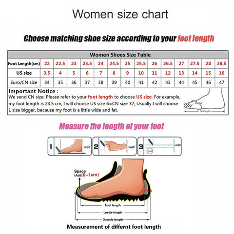 Ladies Comfortable Pointed Toe Flat Shoes Size Guide