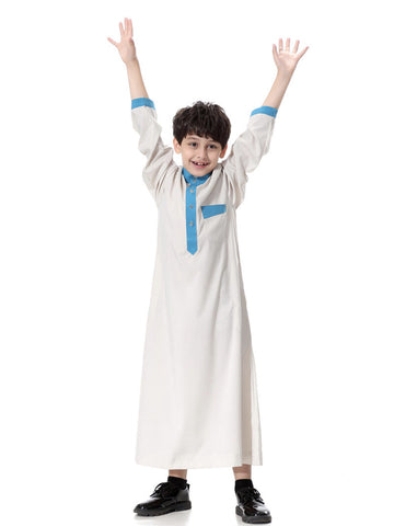 Muslim Boys Ivory Robe Thobes Clothing